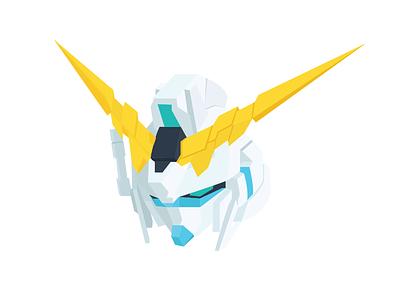 Gundam #1 illustraion unicorn gundam