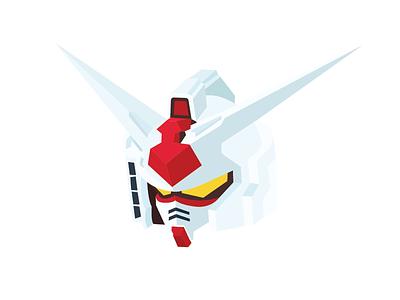 Gundam #2 design flat gundam illustration