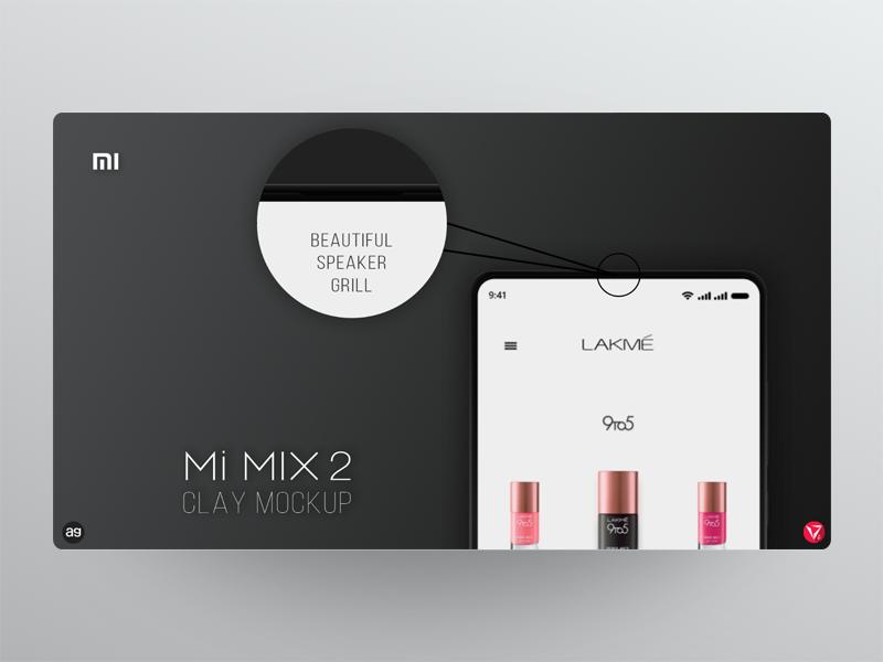 Mi MIX 2 clay mockup *Part 3/4* photoshop appdesign userinterfacedesign ux ui xiaomi black mockup virtuosodesigner virtuosoalpha