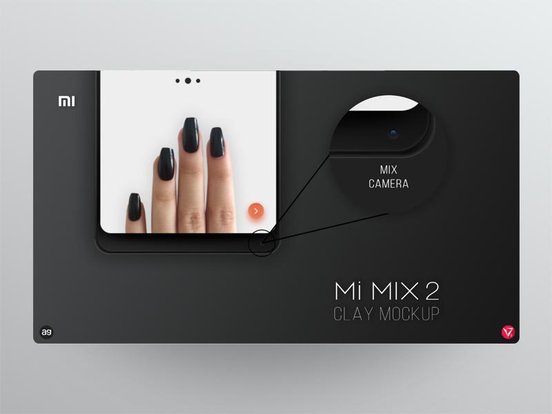 Mi MIX 2 clay mockup *Part 4/4* photoshop appdesign userinterfacedesign ux ui xiaomi black mockup virtuosodesigner virtuosoalpha