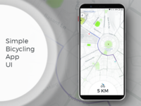 Simple Bicycling App UI
