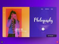 Photography Web Design UI