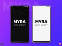"MYRA - Ride Smart; Cab App concept ""Splash Screen """