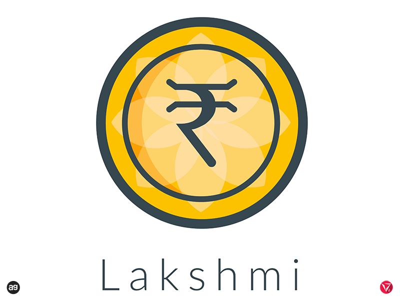 "Logo concept for ""Lakshmi"" - India's Own Cryptocurrency illustrator logodesign coin lakshmi cryptocurrency logo virtuosodesigner virtuosoalpha"