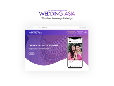 WeddingAsia - Website Redesign Concept