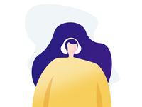 Girl Illustration for Moosick