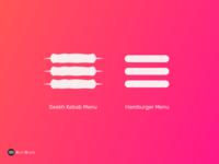 Conceptual Icon Design for Seekh Kebab Menu