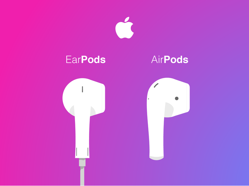 Apple Music Pods earpods airpods music apple apple icon ui illustration virtuosodesigner virtuosoalpha