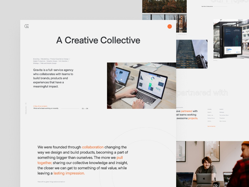 New 2020 Gravita Website typography homepage product design branding ui ux design minimalist website agency