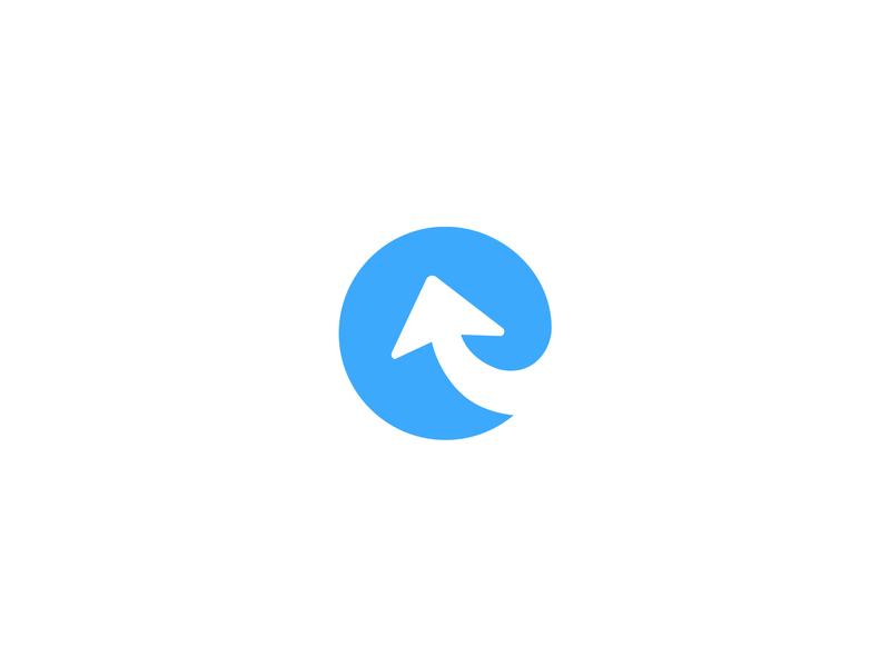 Expertly Mark project managment blue identity positive logo branding identity branding logo design e logo arrow logo identity mark logo