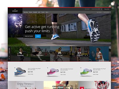 Sports Website Freebie sports homepage ux ui freebie gravita trainers fitness web design ecommerce