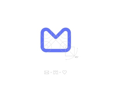 Startmail ID Concept heart logo m logo purple logo logodesign email branding security brand security logo brand identity privacy email identity email logo email heart castle