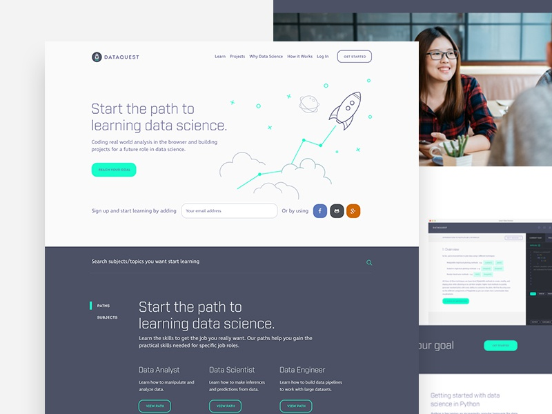 Marketing Website purple science data startup webdesign ui ux landingpage home page landing page homepage