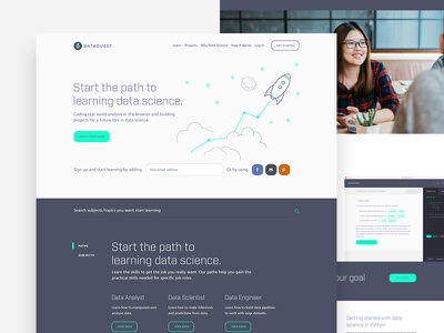 Marketing Website purple science data startup webdesign ui ux landingpage home page landing page homepage
