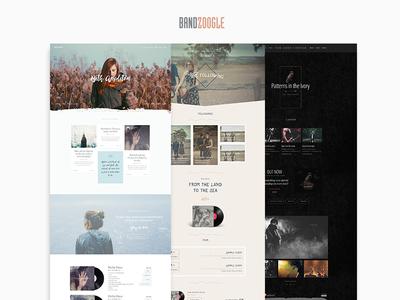 Bandzoogle Theme Frameword theme theming framework design homepage website band music musicians bands