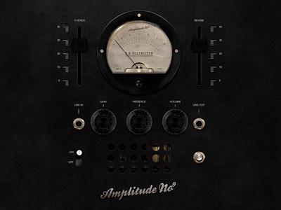 Amplitude No9 app amp guitar ui dark black vintage valves dials plug