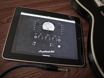 Amplitude Shot Final app amp guitar ui dark black vintage valves dials plug