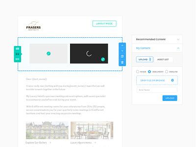 Mail Content Editor e-mail interface platform ui ux design layout editor content editor email