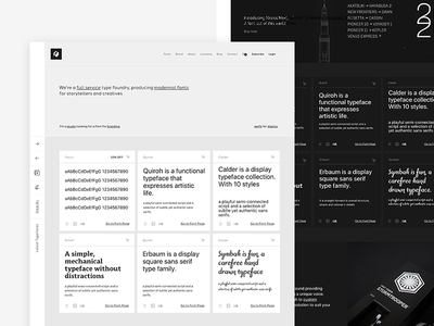 Type Foundry Website - Homepage