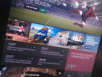 Sports brand site