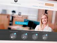 Legal Homepage Design