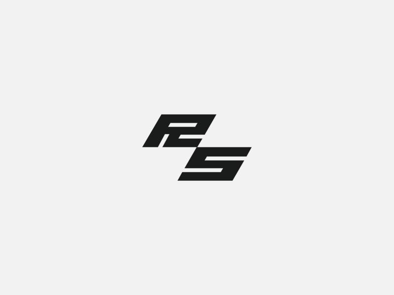 RS logo typography design branding letter logo