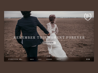 Landing page for a wedding photography business.