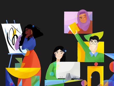 Diversity. women illustration representation diversity character illustration character character design