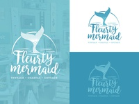Fleurty Mermaid Logo