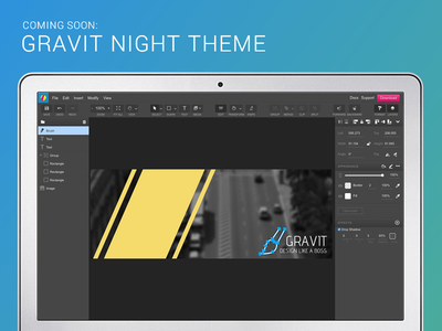 Gravit Night Theme designer night ui dark