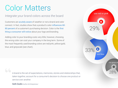 Color Matters info graphic landing color
