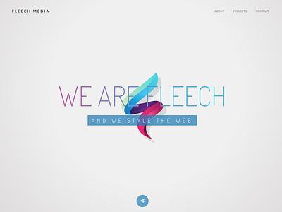 Fleech Hero Concept website logo header hero fleech