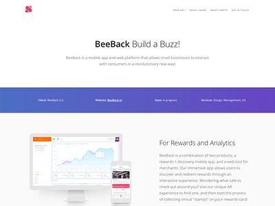 Portfolio Single Page details product beeback portfolio
