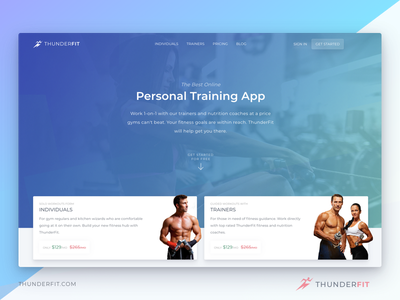 ThunderFIT nutrition healthy app website fit exercise fitness