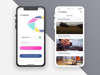 EyePop mobile ux design app