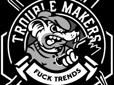 Fuck Trends black white street rat street wear