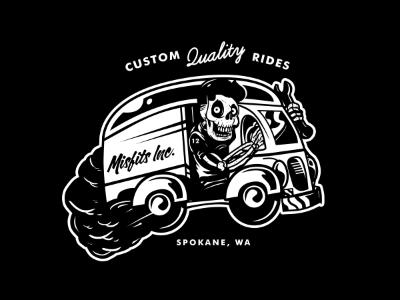 Live Fast, Play Hard skull skeleton car whip greaser garage vintage classic mechanic