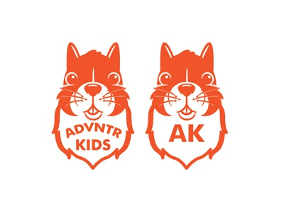 Advntr Kids logo mascot squirrel apparel outdoors kids branding