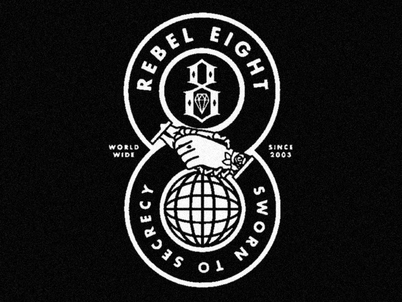 Sworn To Secrecy business tattoo world wide globe masonic handshake deal hand skeleton badge secret society