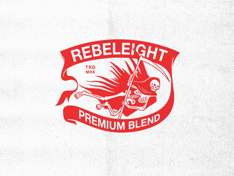 Premium Blend badge scythe skull traditional matchbox vintage banner reaper grim death