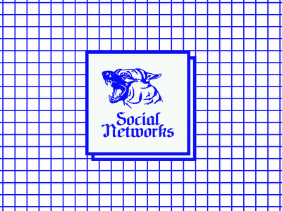 Social Networks lo-fi blackletter shepherd german rabid dog network media social internet beware