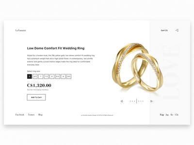 Wedding Ring E-Commerce Page