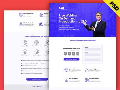 SEOwebinar - Webinar Landing Page