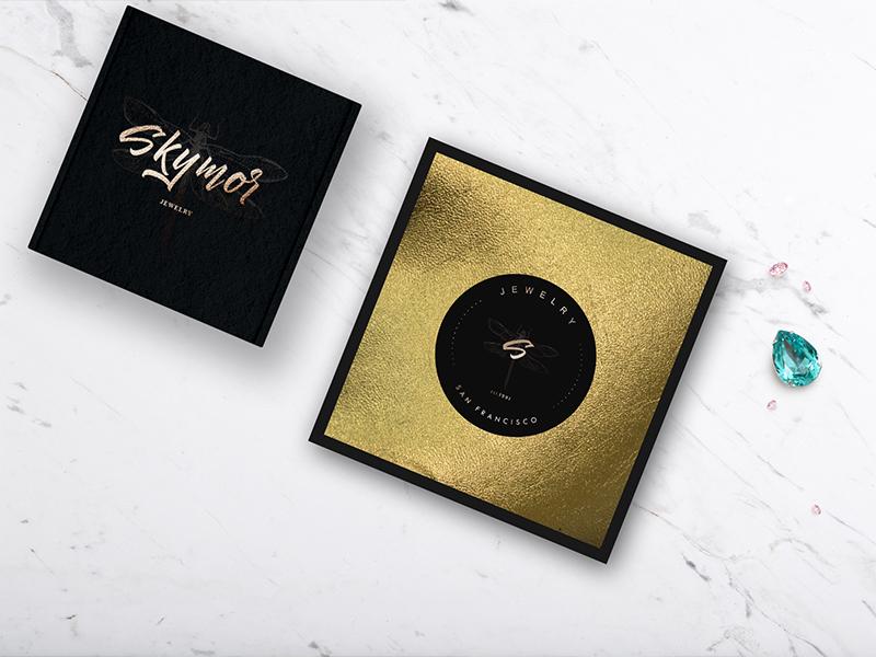 SKYMOR JEWELRY BRANDING jewelry print identity brand branding lettering graphicdesign logo design