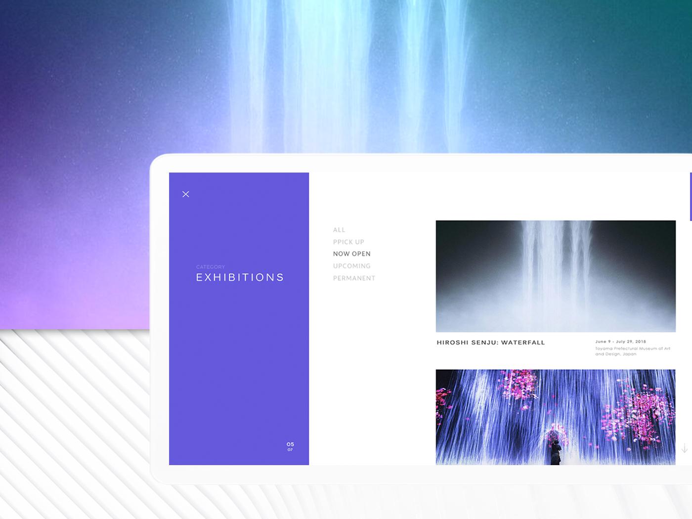 INFINITY #5 screen clean design gallery art exhibition desktop ui web
