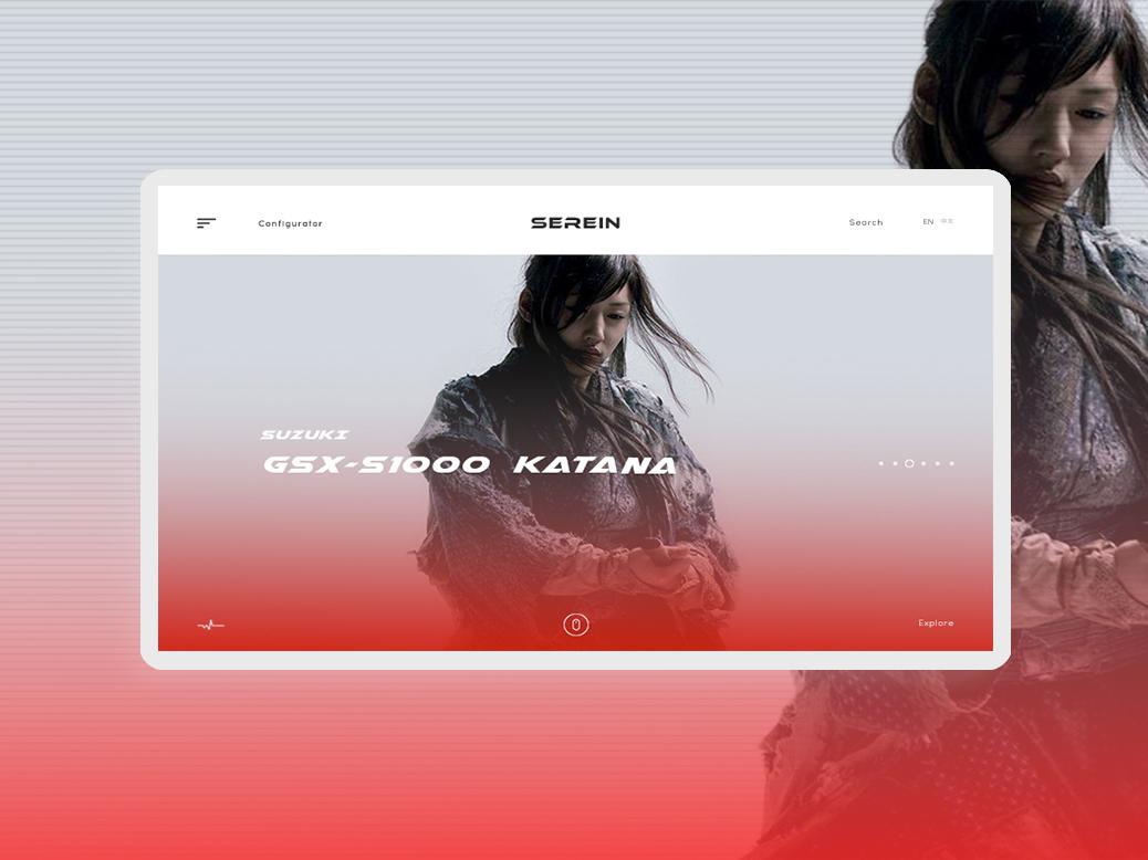Serein typography design moto project web ui dekstop color clean concept