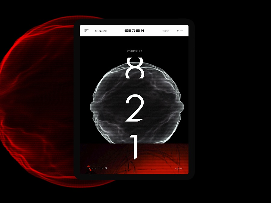 Serein #2 product graphicdesign typography moto design tablet ui web concept project
