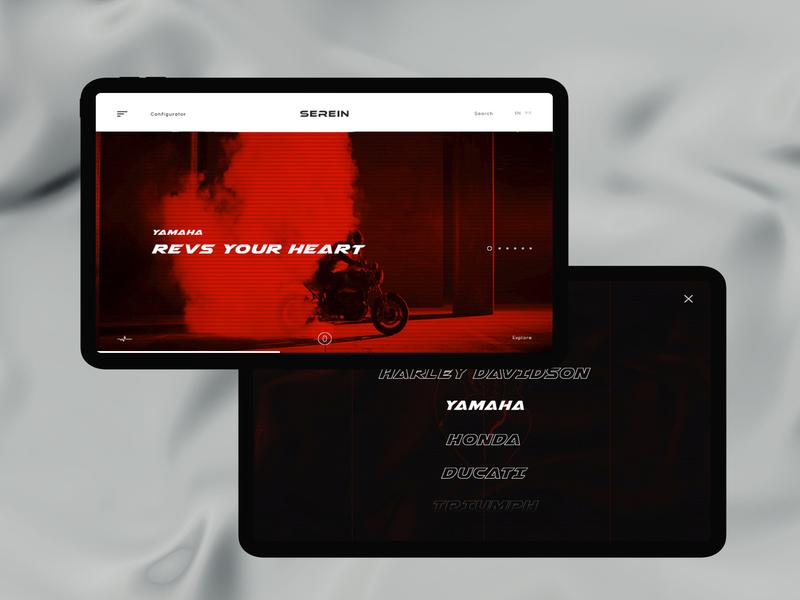 Serein #3 project brand company main moto design ui web clean color concept