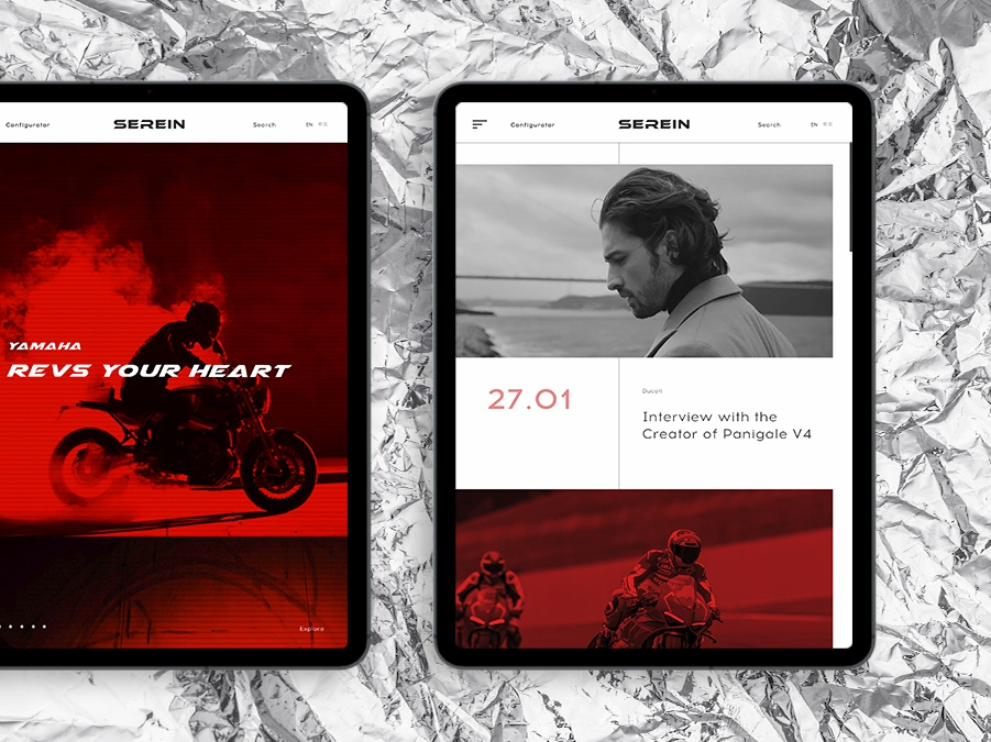 Serein #3 clean brand project moto design tablet ui web concept