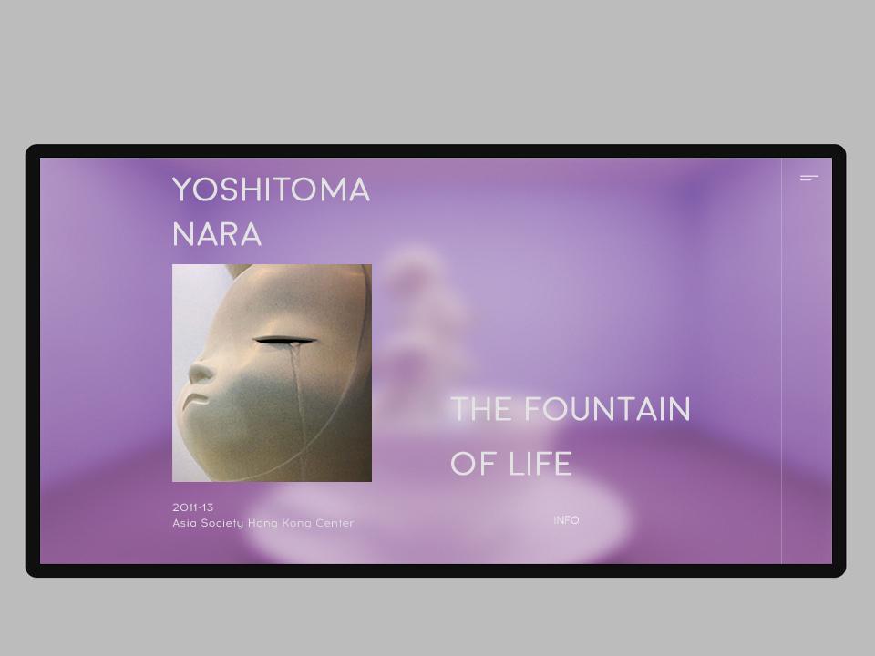 ENOI artist exhibition clean behance tablet minimal magazine web ui concept project design